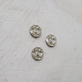 Diamantine Glass Jewelry Button 11mm