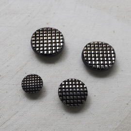 Jewelry Button Silver Checkerboard 14 18 23mm