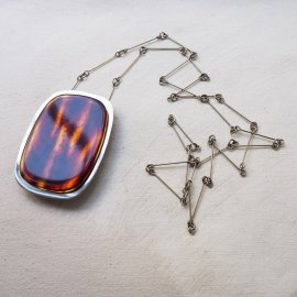 Collier Pendant Rectangle 70s