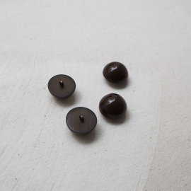 Design Button Curved Brown 19mm