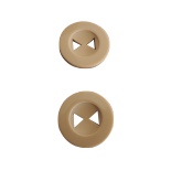 Beige Smiling Face Button 30mm