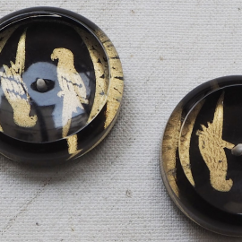 Art Deco Parrot Button 34mm