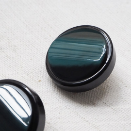 Design Button Green Black Gala 26 mm