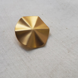 Design Button Matt Gold Star 33mm