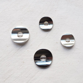 Design Button Wavy Silver Line 18-23mm