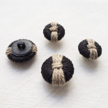 Design Button Black Beige Trimmings 20-24mm