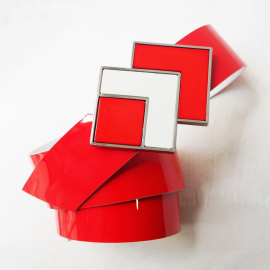 Design Belt Woman Square Mixi Pop Red