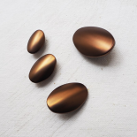 Oval Design Metal Button Brown 20-25-30-35mm