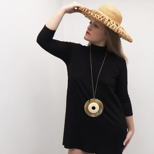 Collier Design Long Double Ring