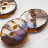 Design Button Tortoise Resin Disc 31mm