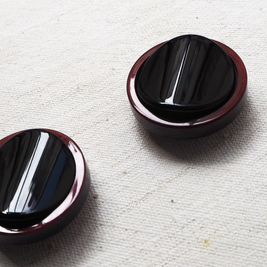 Jewelry Button Purple Black Gala 27mm