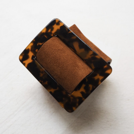 Design Cuff Bracelet Natural Brown Eden R