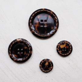 Design Button Brown Couture 17-19-24-30-37mm