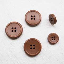 Design Button Cognac Brown Leather 18-28mm