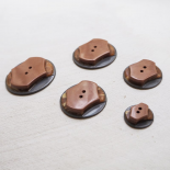 Design Button Brown Gray France 27-31-36-40mm