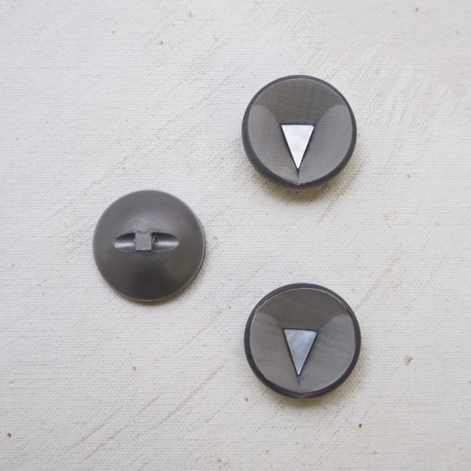 Design Button Mouse Gray Space Age 70s 25mm