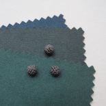 Gray Clay Crochet Ball Button 10mm