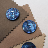 Design Button Blue Chiseled Pearl 34mm