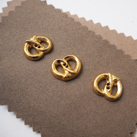 Design Button Gold Metal Rings 25mm