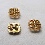 Jewelry Button Gold Metal Chic Cross 27x27mm
