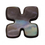 Bouton Puzzle nacre taupe 11-16mm