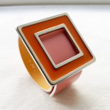 Square Design Bracelet Pop Art Orange