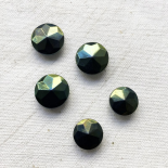 Faceted Button Jewelry Imperial Green 11-14mm