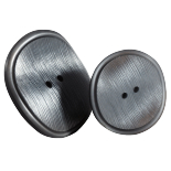 Silver Gray Pop Button 30-38mm