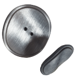 Bouton Gris Argent Pop Fifties 30-38mm