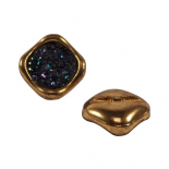 Eighties Disco button gold 20-27mm