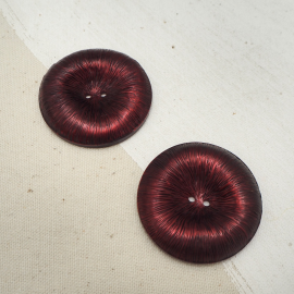 Poppy Red Bordeaux sewing button 40mm