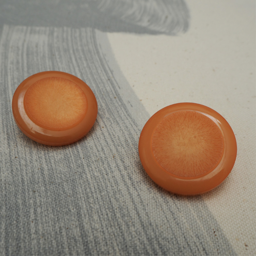 Bouton Orange Douce 30mm