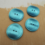 Blue Pop Fifties Button 30-33mm