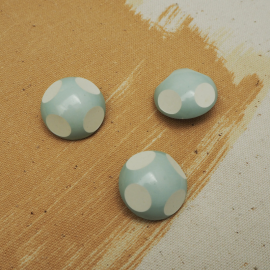 Resin Blue Beetle Couture Button 22mm