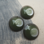 Resin Almond Green Button 34mm