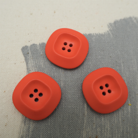Orange Courrèges Button 25mm