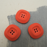 Orange Courrèges Button