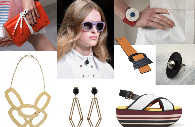 Accessory trends for summer 2016: structured forms for a bold look