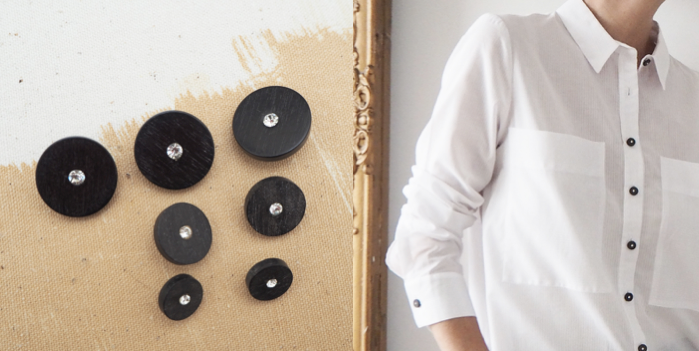 Customize your white shirts with original buttons