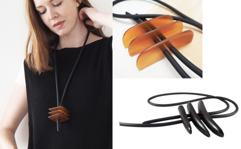 Wood horn leather jewelry designers a contemporary style The