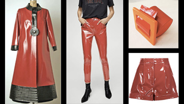 Red vinyl outfits blog